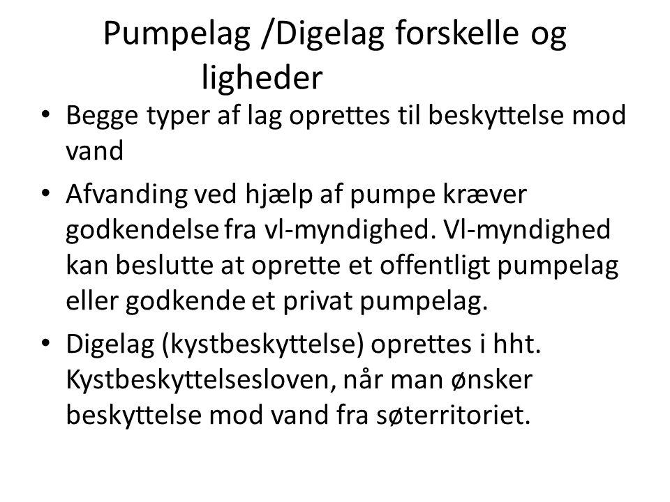 Pumpelag /Digelag forskelle og ligheder