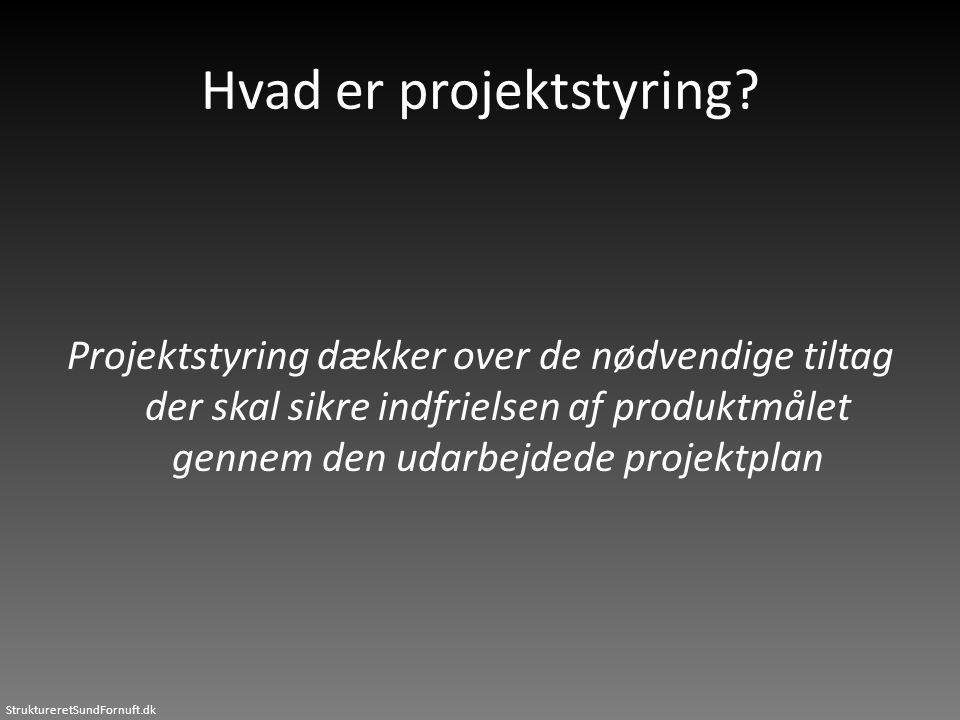 Hvad er projektstyring