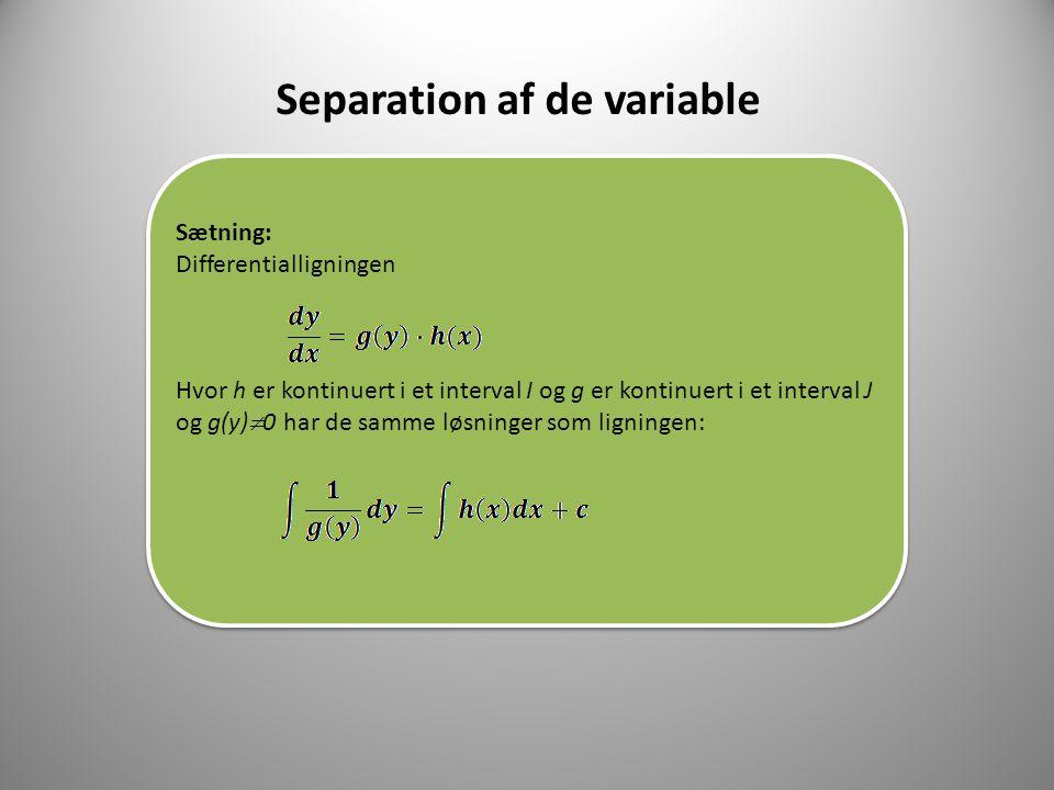 Separation af de variable