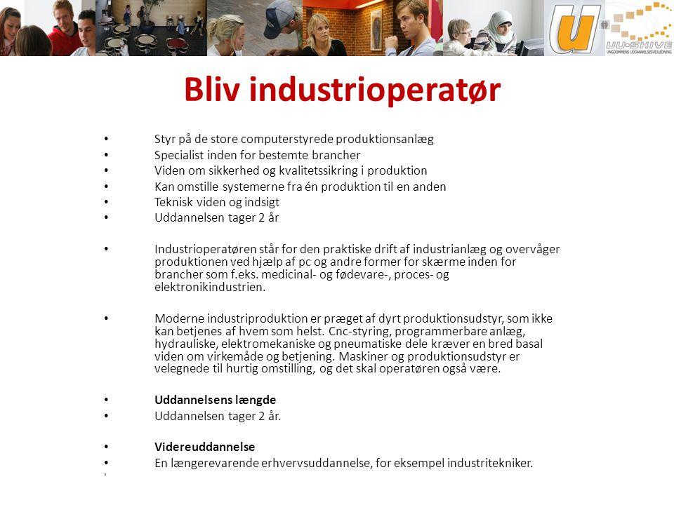 Bliv industrioperatør