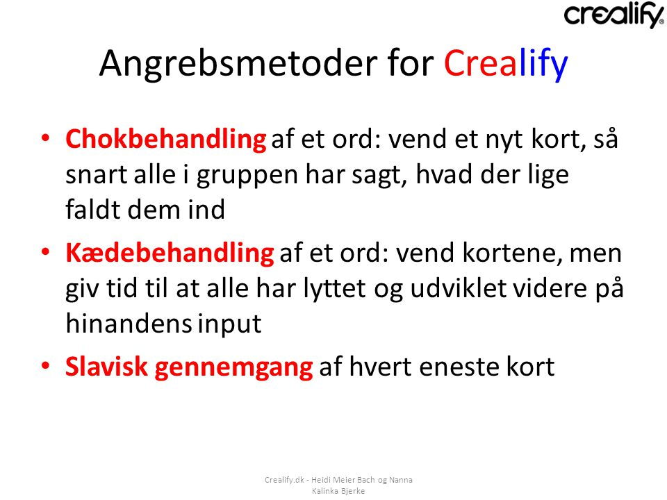 Angrebsmetoder for Crealify