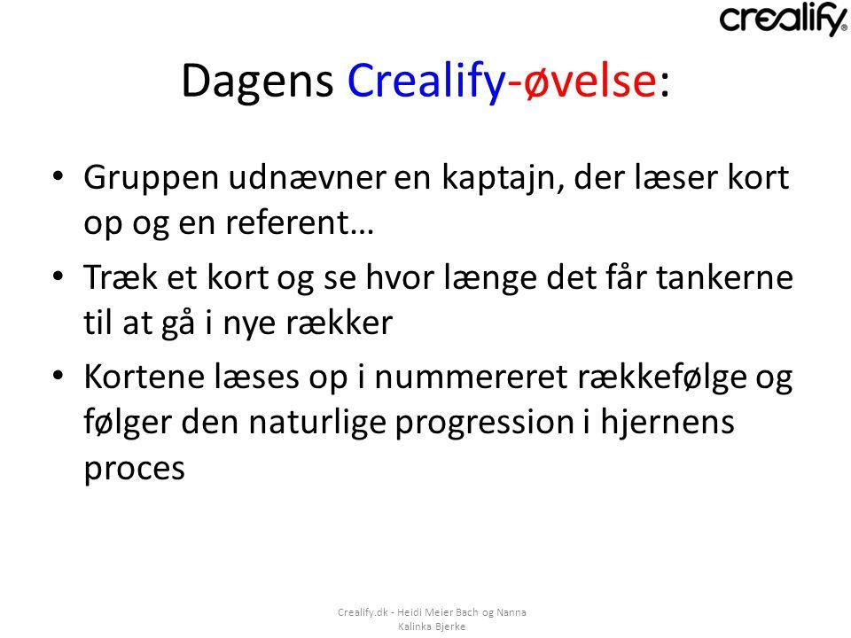 Dagens Crealify-øvelse: