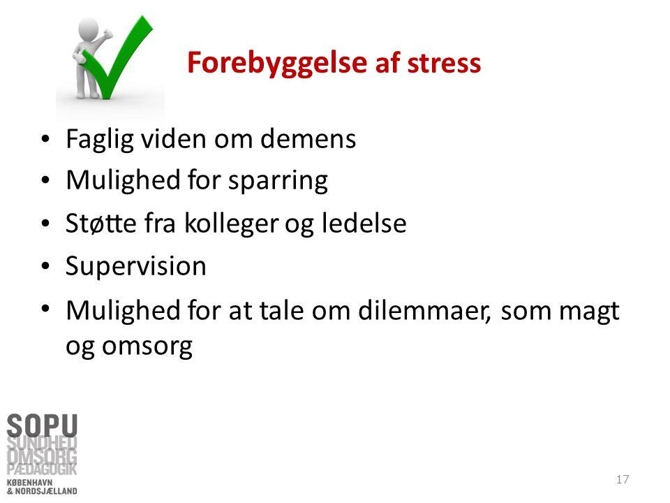 Forebyggelse af stress
