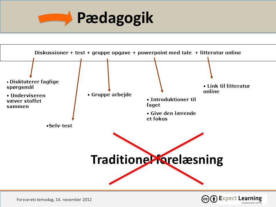Pædagogik Traditionel forelæsning