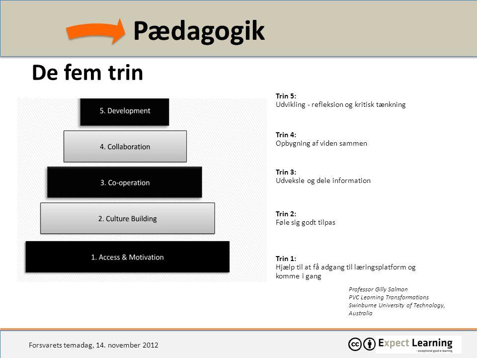 Pædagogik De fem trin Trin 5: