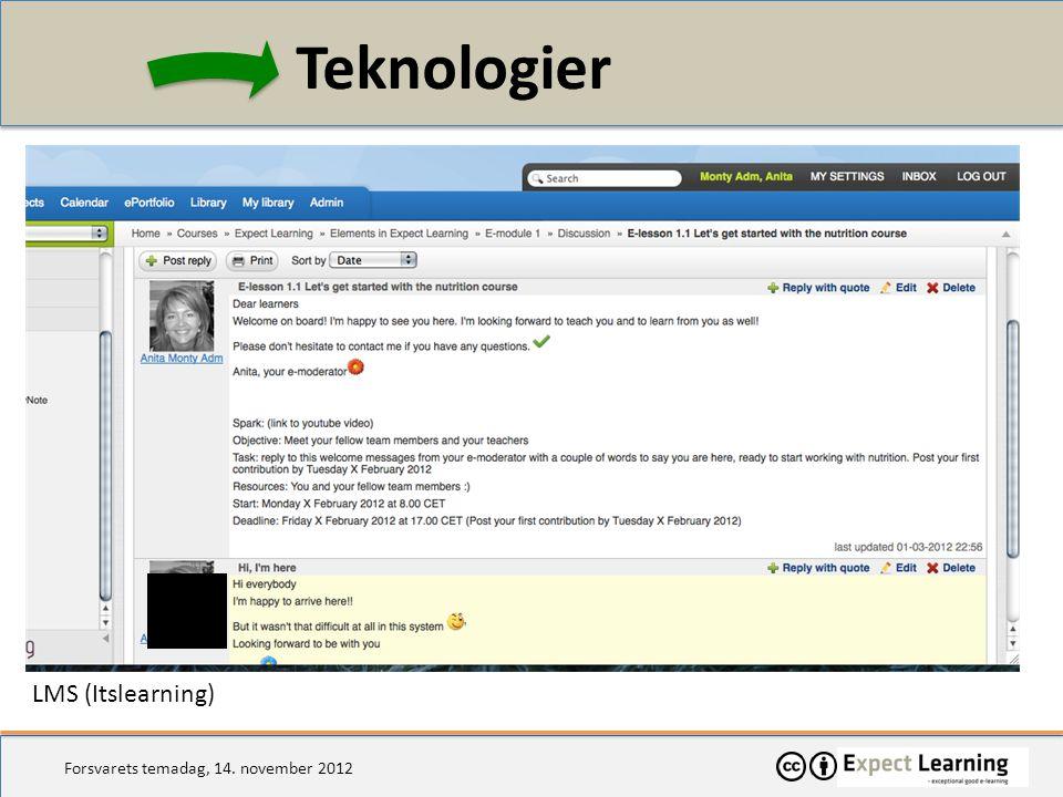 Teknologier LMS (Itslearning)