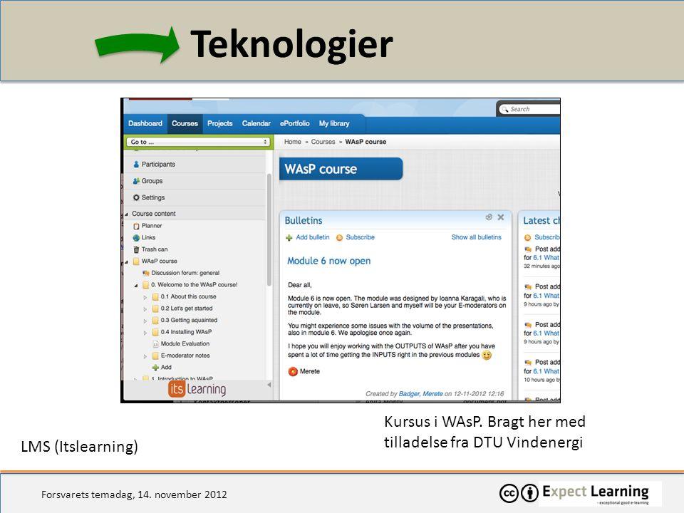 Teknologier Kursus i WAsP. Bragt her med tilladelse fra DTU Vindenergi