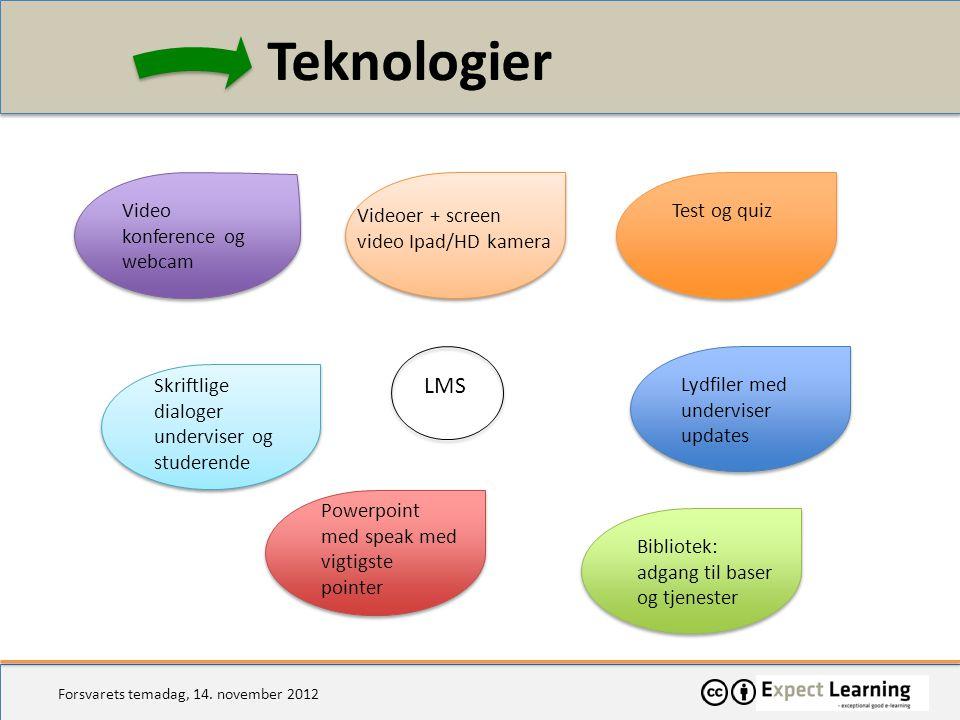 Teknologier LMS Video konference og webcam