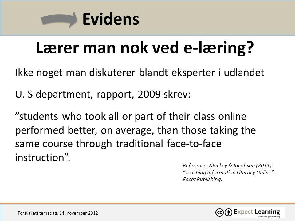 Lærer man nok ved e-læring