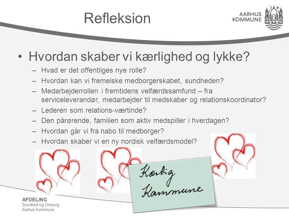 Refleksion Hvordan skaber vi kærlighed og lykke