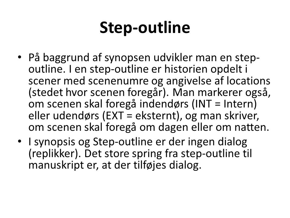 Step-outline