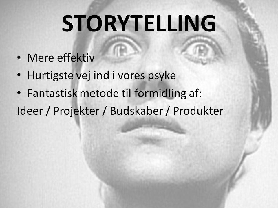 STORYTELLING Mere effektiv Hurtigste vej ind i vores psyke