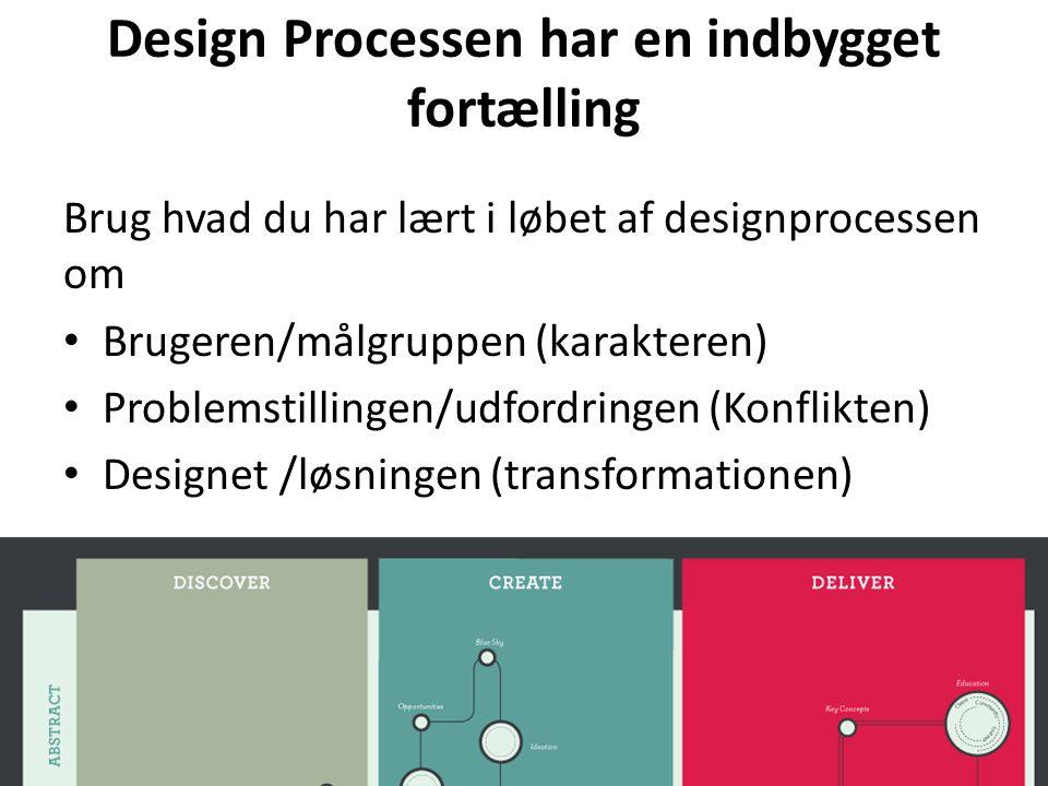 Design Processen har en indbygget fortælling