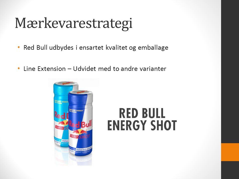 Mærkevarestrategi Red Bull udbydes i ensartet kvalitet og emballage