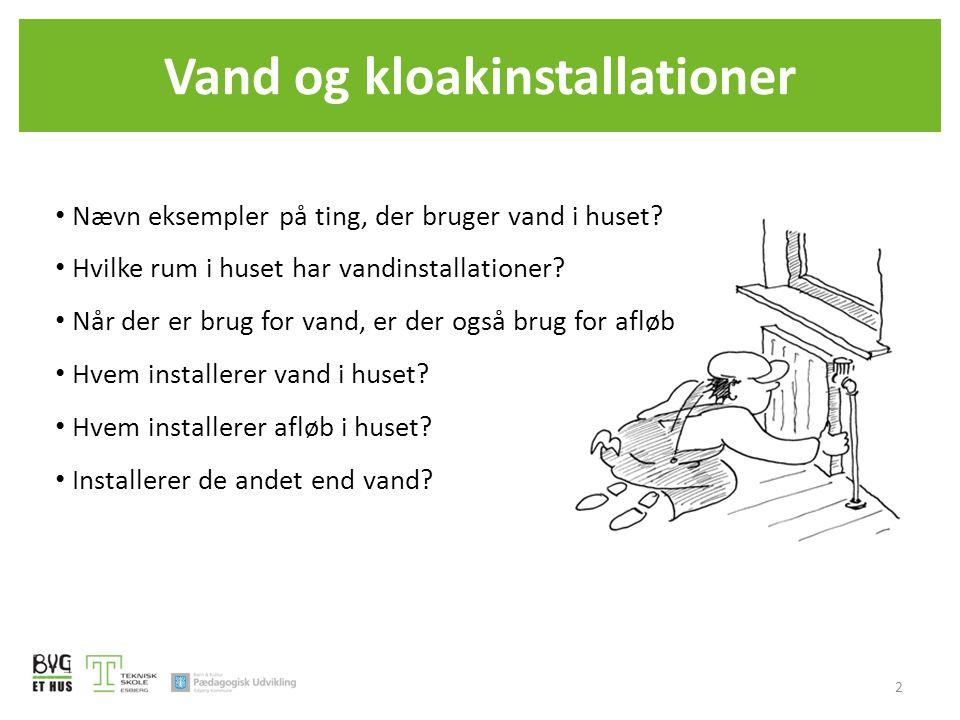 Vand og kloakinstallationer