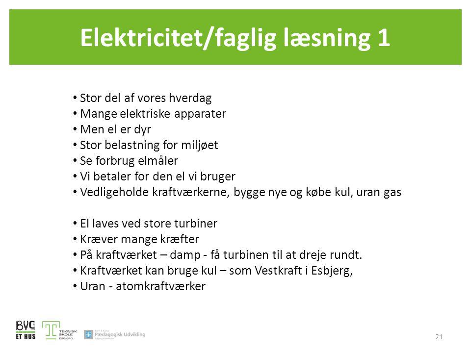 Elektricitet/faglig læsning 1