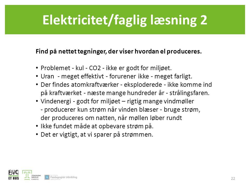 Elektricitet/faglig læsning 2