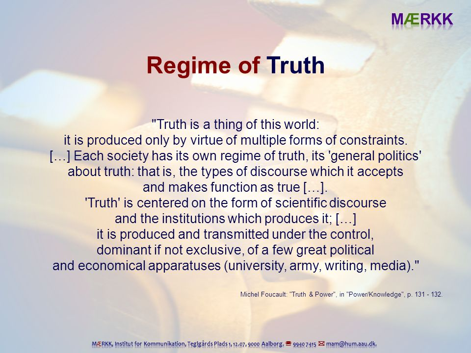 foucault regime of truth pdf