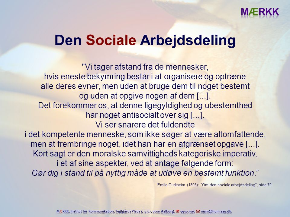 Den Sociale Arbejdsdeling