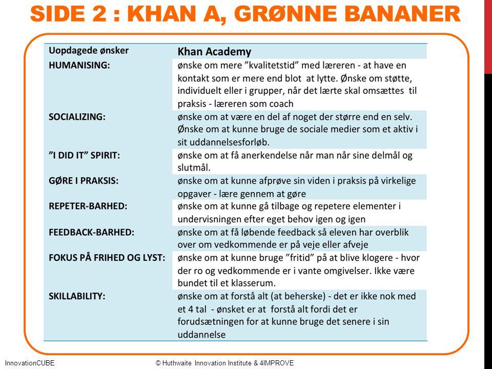 SIDE 2 : Khan a, Grønne bananer