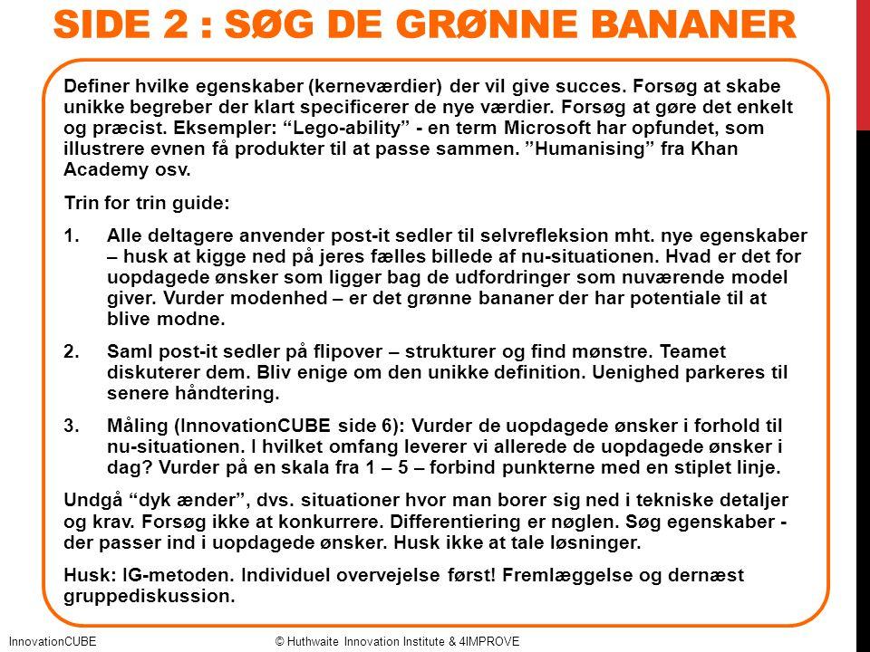 SIDE 2 : Søg de grønne bananer