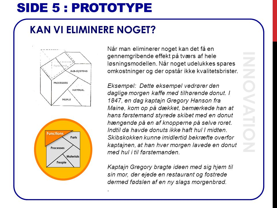 INNOVATION SIDE 5 : Prototype KAN VI ELIMINERE NOGET