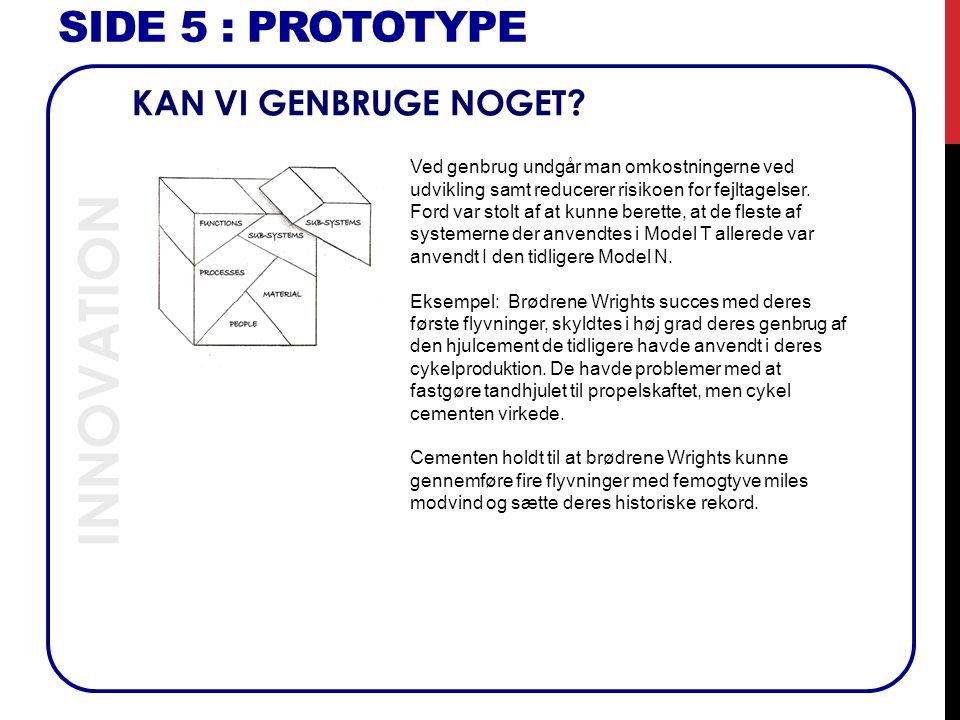 INNOVATION SIDE 5 : Prototype KAN VI GENBRUGE NOGET