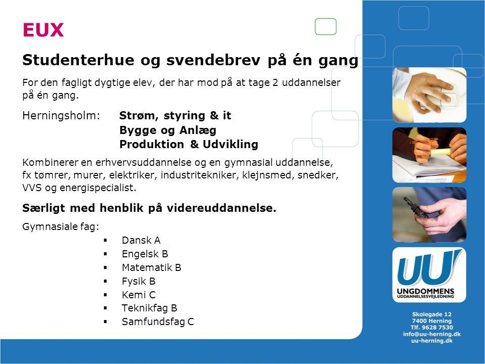 EUX Studenterhue og svendebrev på én gang