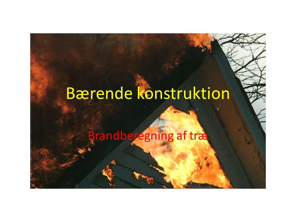 Bærende konstruktion Brandberegning af træ