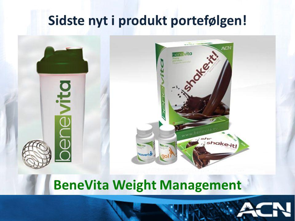 Sidste nyt i produkt portefølgen! BeneVita Weight Management