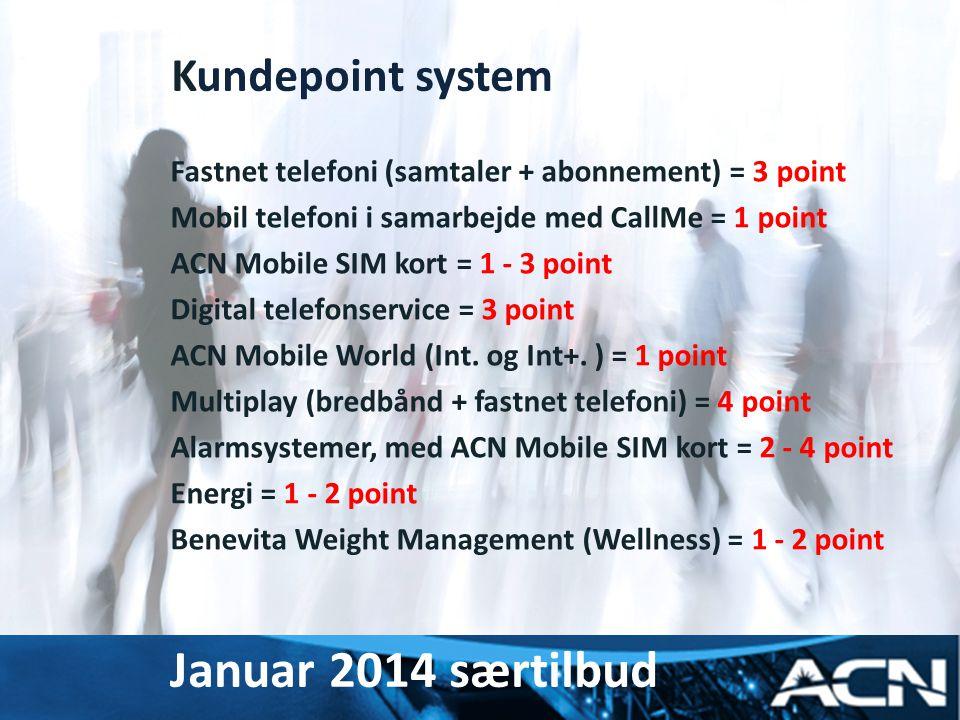 Januar 2014 særtilbud Kundepoint system myacn.com myacn.eu