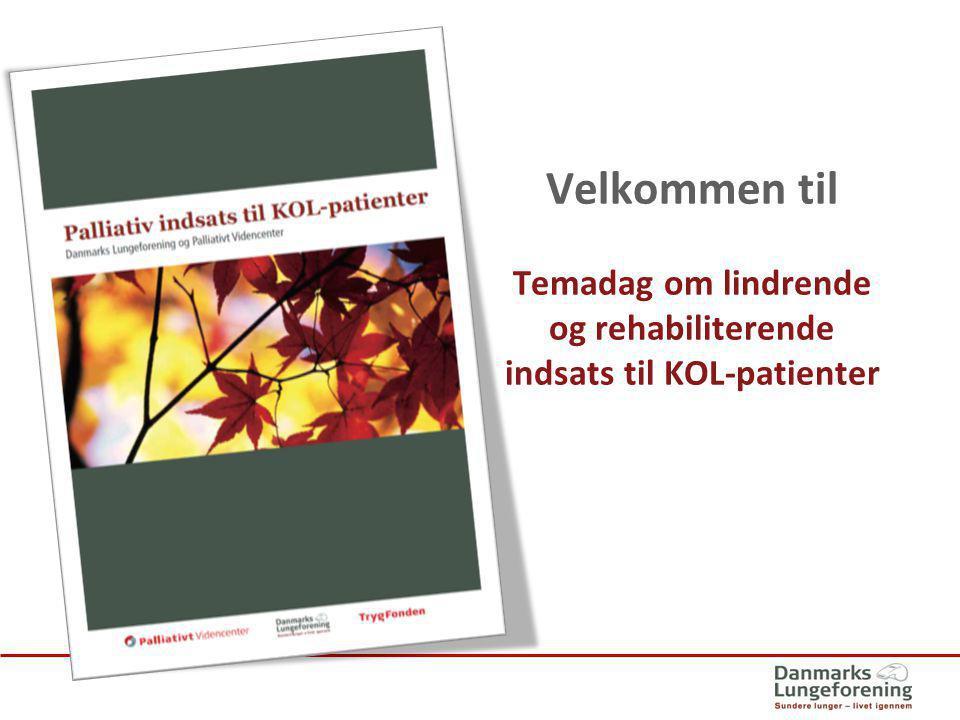 Temadag om lindrende og rehabiliterende indsats til KOL-patienter