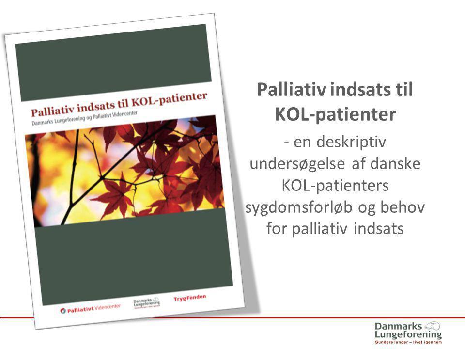 Palliativ indsats til KOL-patienter