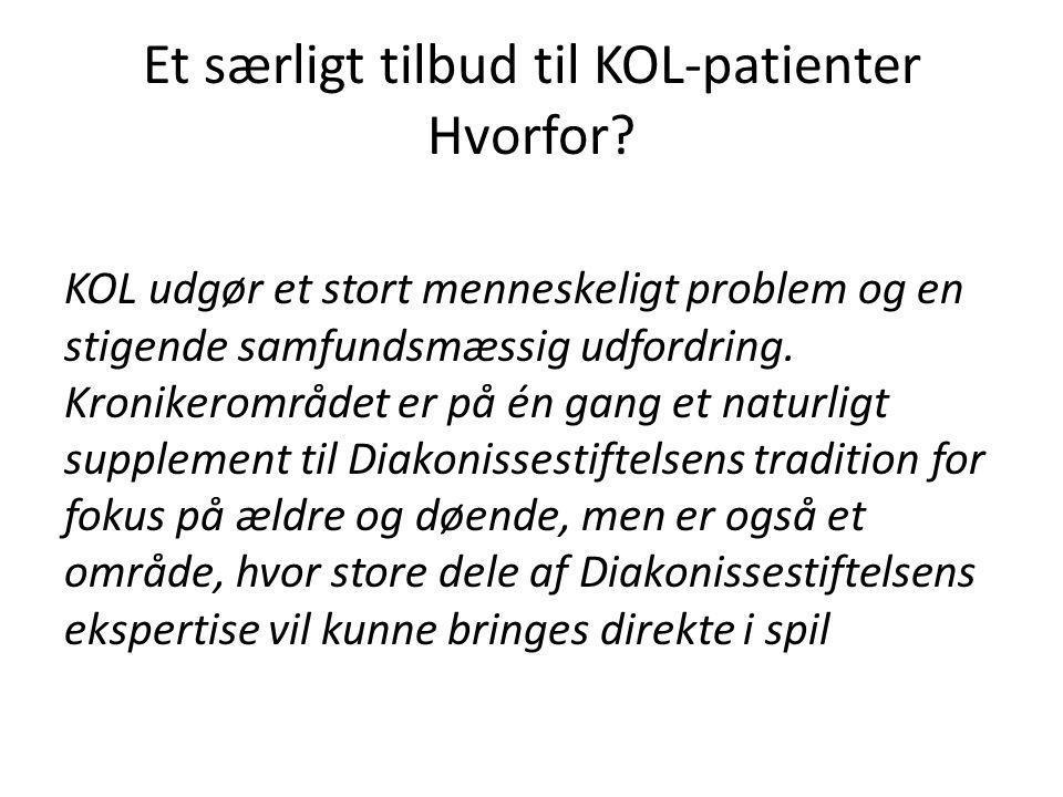 Et særligt tilbud til KOL-patienter Hvorfor