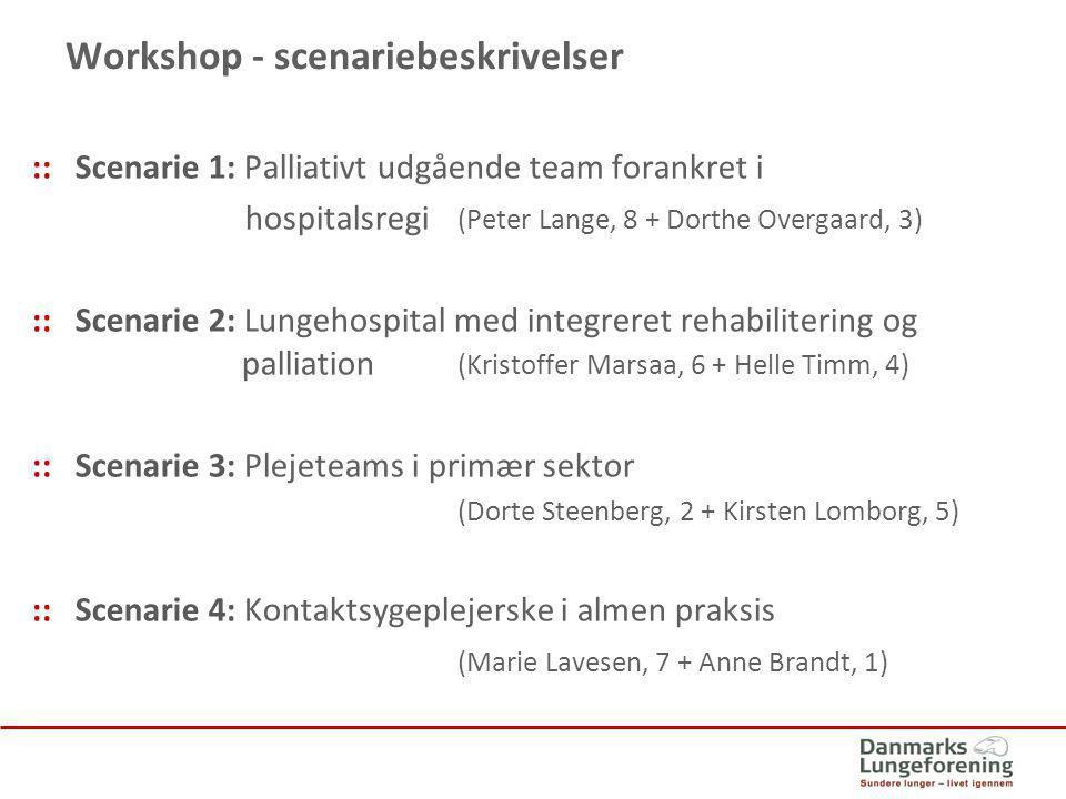 Workshop - scenariebeskrivelser
