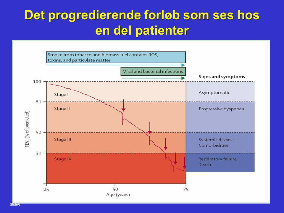 Det progredierende forløb som ses hos en del patienter