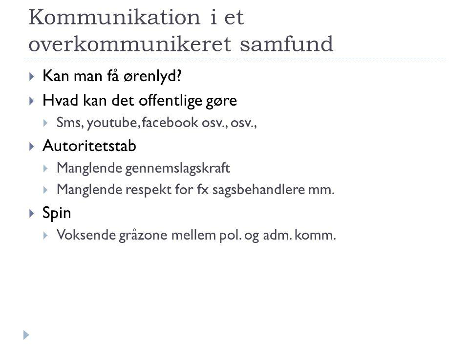 Kommunikation i et overkommunikeret samfund
