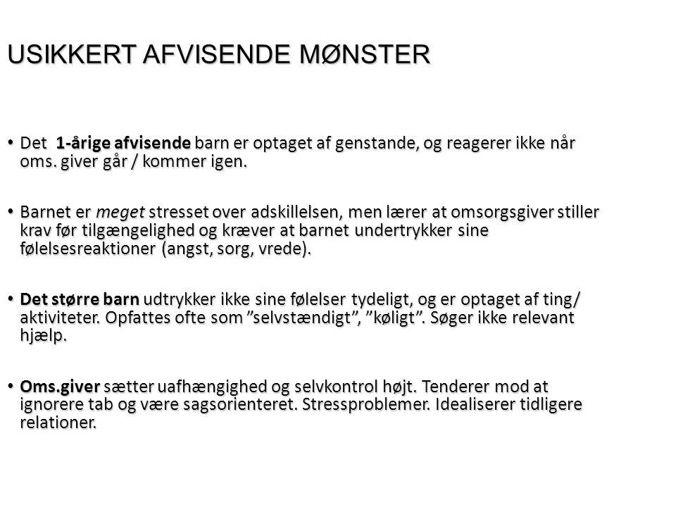 USIKKERT AFVISENDE MØNSTER