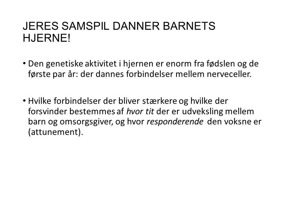 JERES SAMSPIL DANNER BARNETS HJERNE!