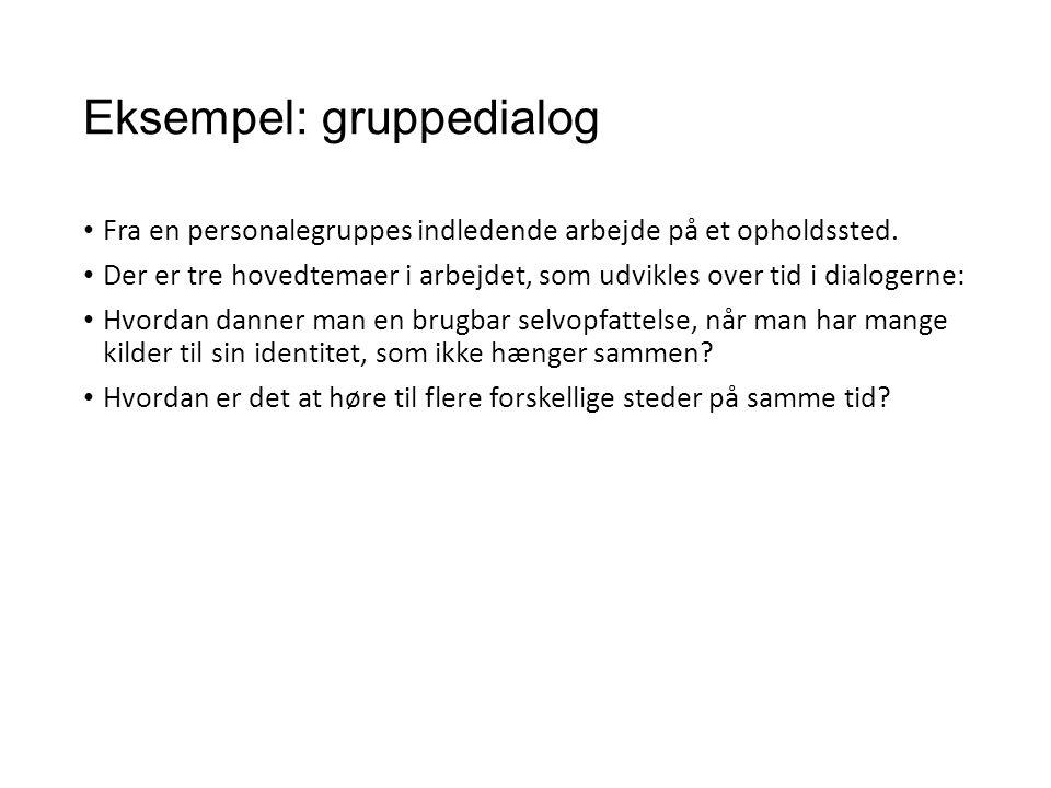 Eksempel: gruppedialog