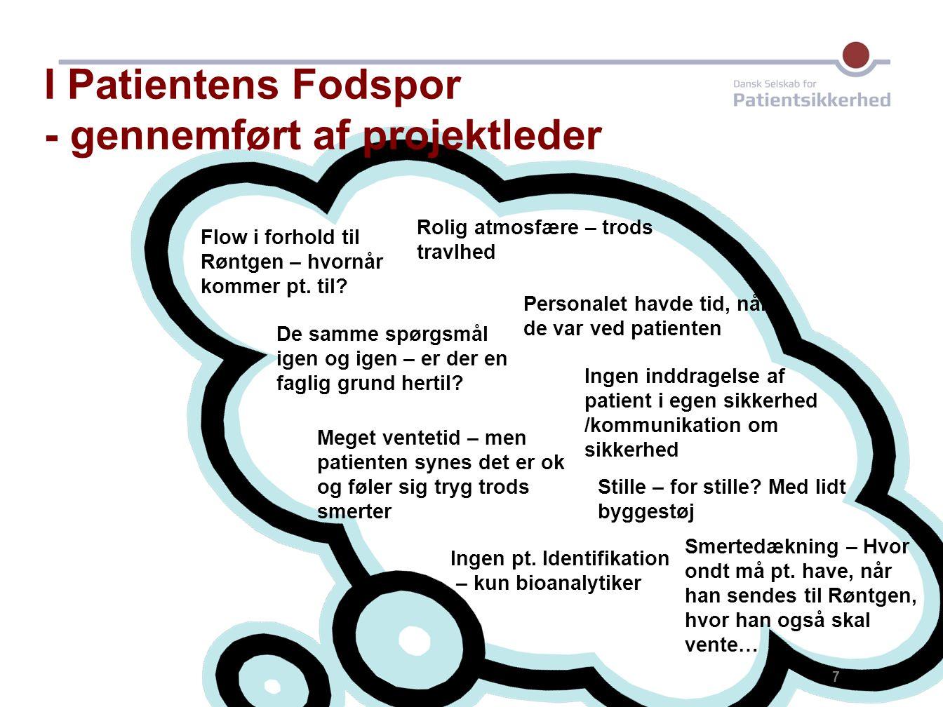 I Patientens Fodspor - gennemført af projektleder