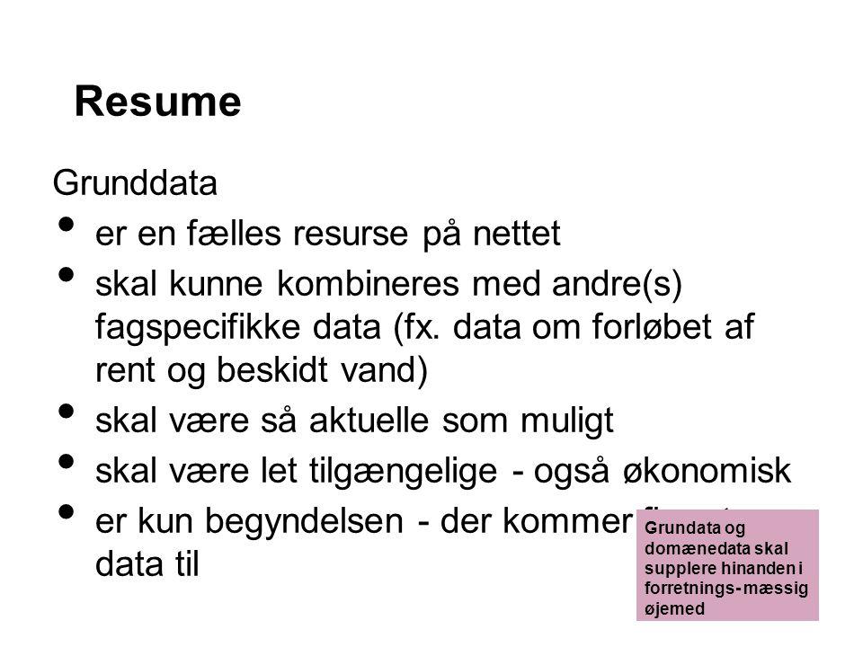 Resume Grunddata er en fælles resurse på nettet