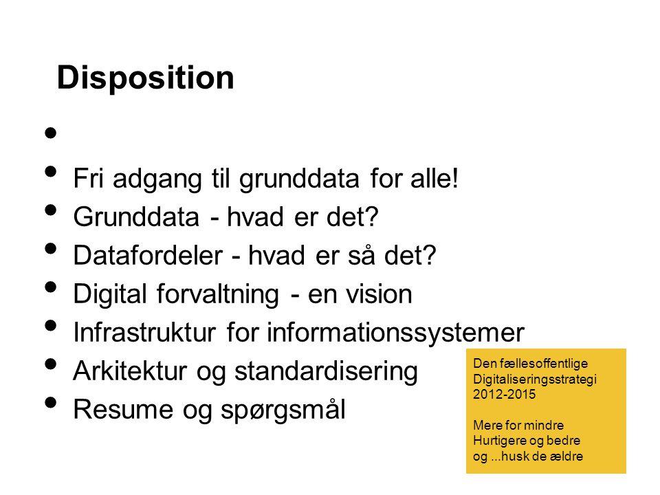 Disposition Fri adgang til grunddata for alle!