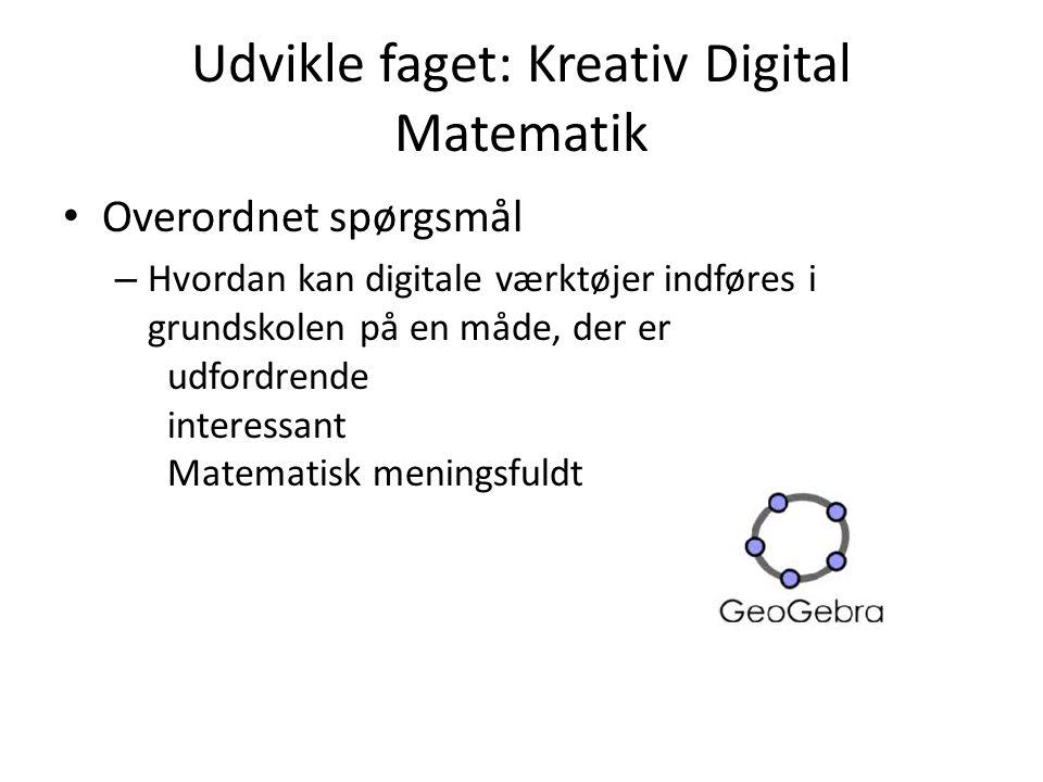 Udvikle faget: Kreativ Digital Matematik