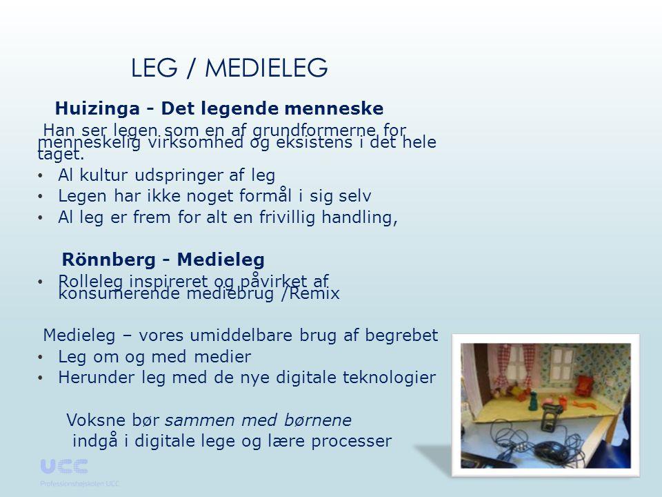 Leg / Medieleg Rönnberg - Medieleg Huizinga - Det legende menneske