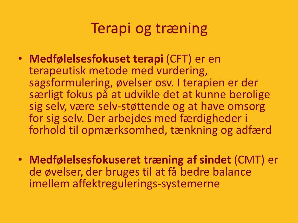 Terapi og træning