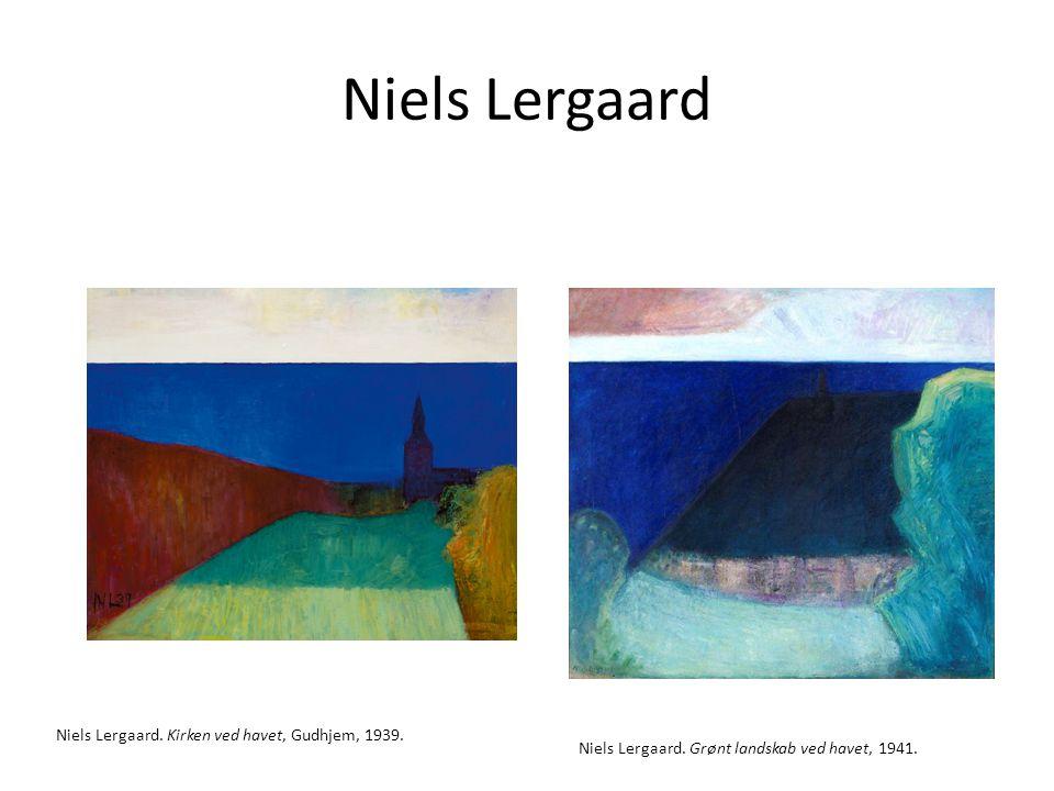 Niels Lergaard Niels Lergaard. Kirken ved havet, Gudhjem, 1939.