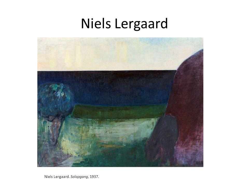 Niels Lergaard Niels Lergaard. Solopgang, 1937.