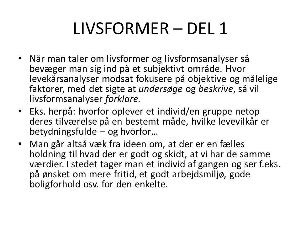 LIVSFORMER – DEL 1