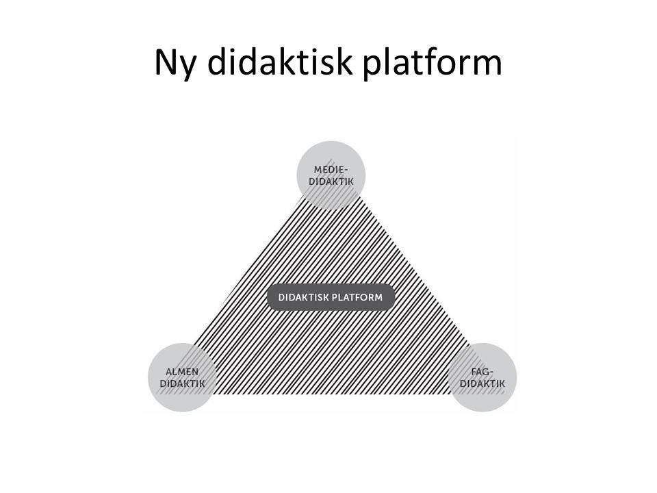 Ny didaktisk platform